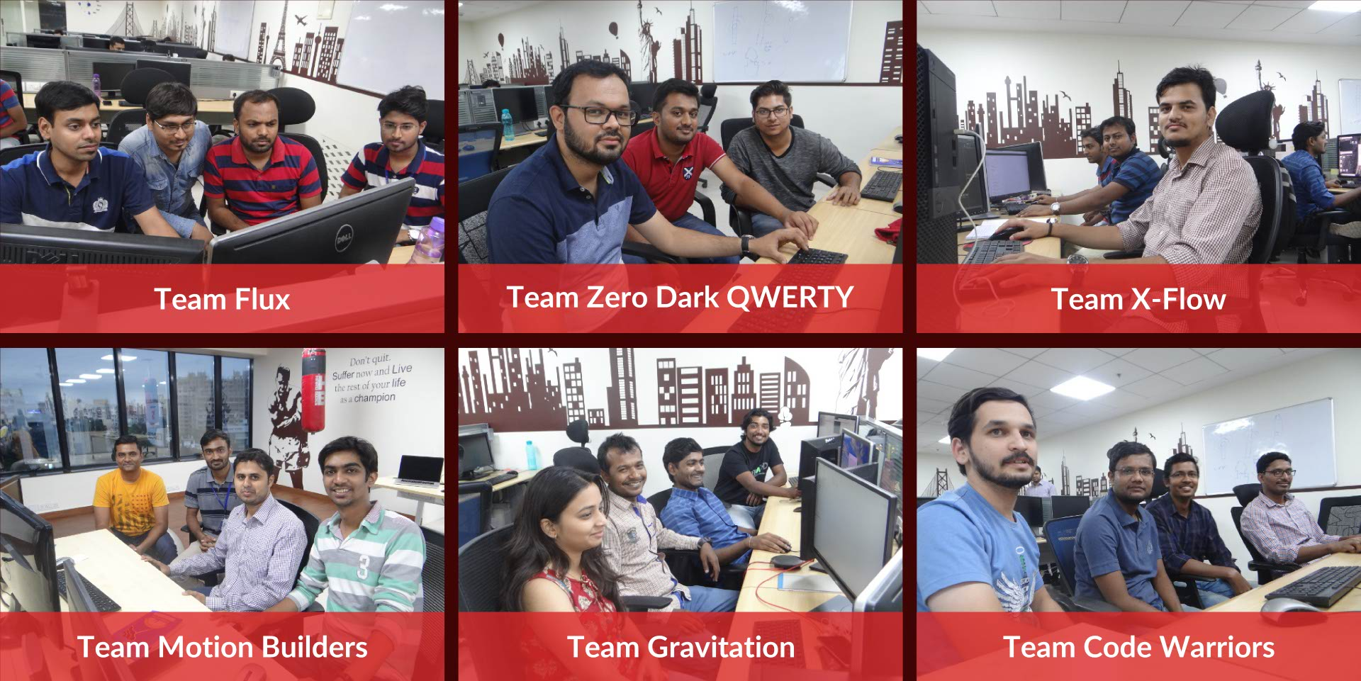 CCTech's first hackathon teams