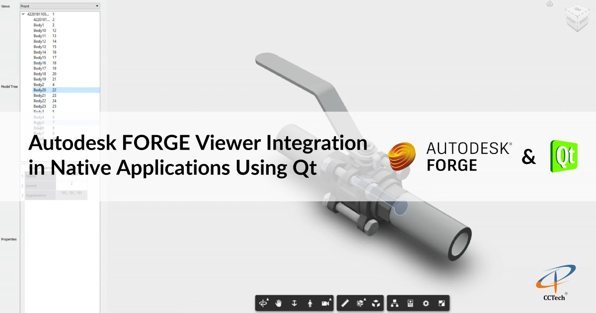 Autodesk FORGE Viewer Integration in Native Applications
